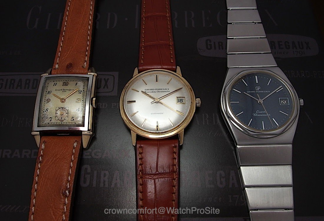 Three cornerstone vintage Girard-Perregaux's from 1945, 1966 and