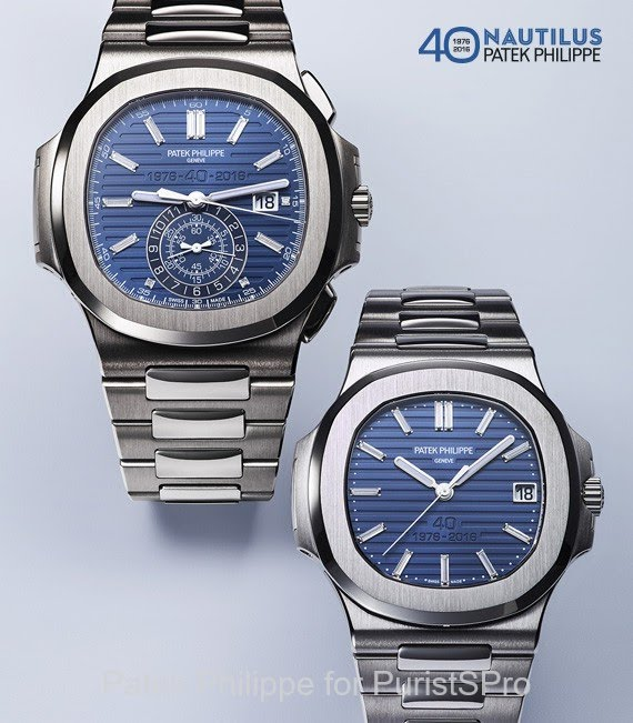 Patek Philippe Nautilus 40th Anniversary 5976 1g And 5711 P