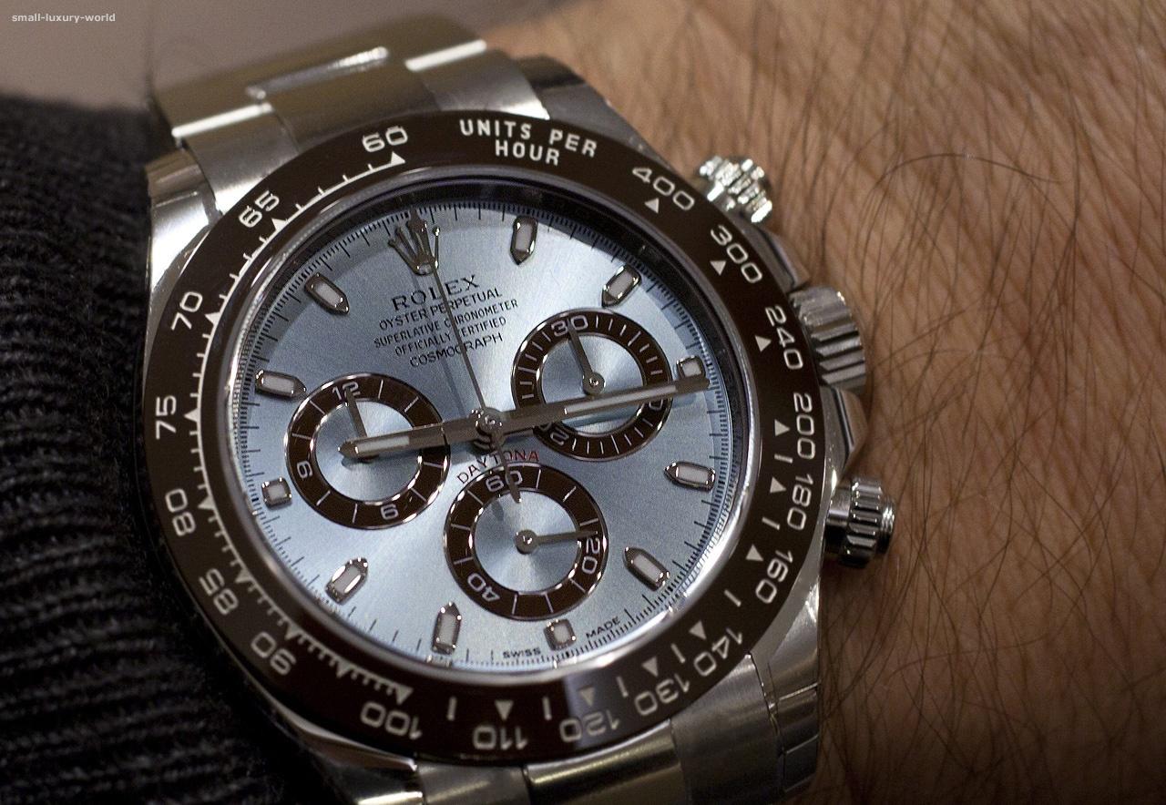 Rolex Cosmograph Daytona in platinum \u2013 on the wrist
